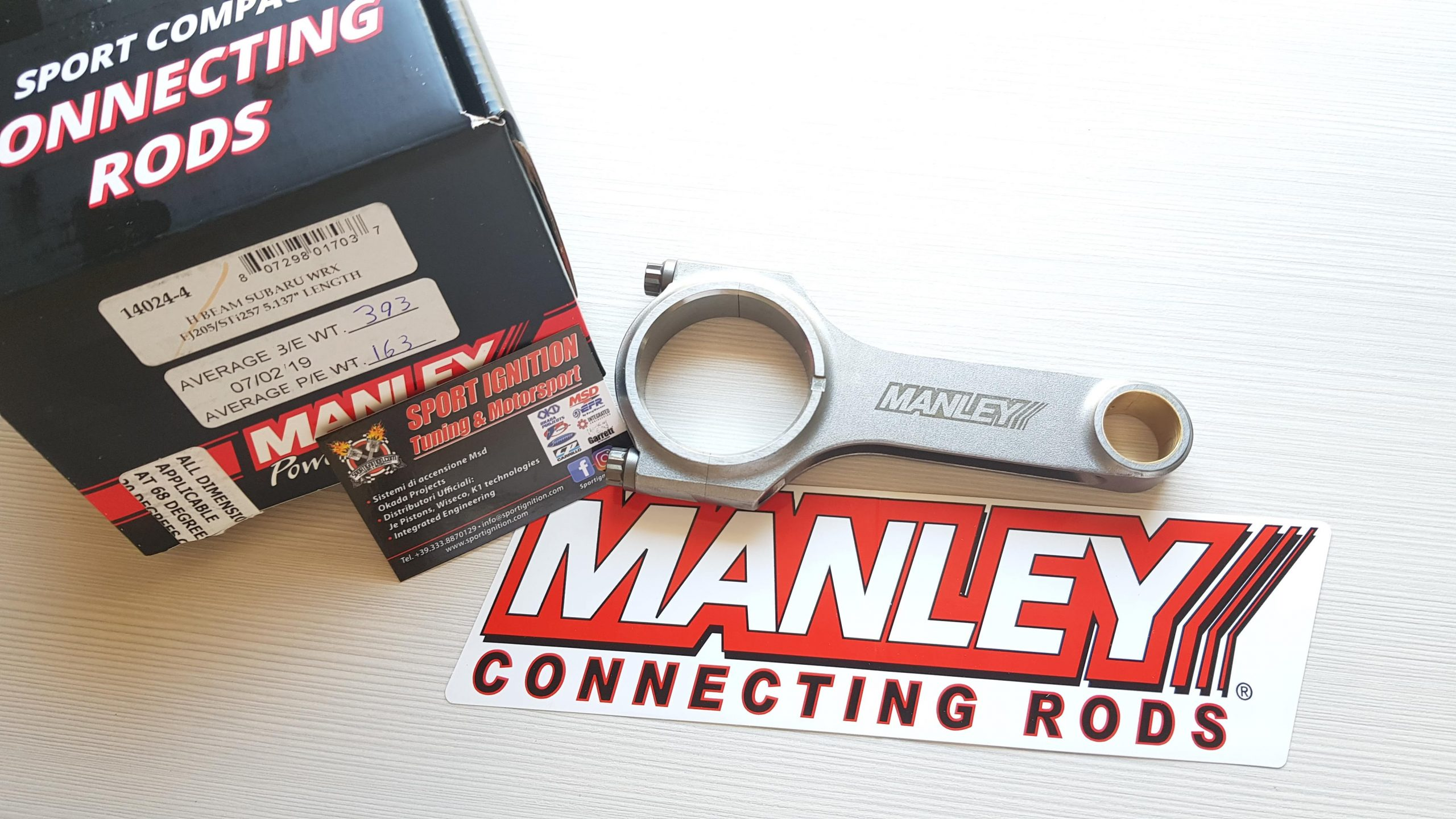 Manley H-Beam Sport compact Rods Subaru Ej20 Ej25