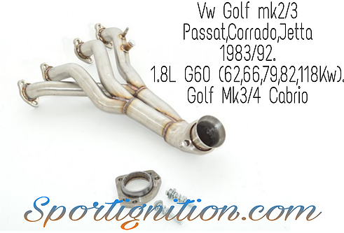 Vw Stainless steel Exhaust manifold 1.8L g60