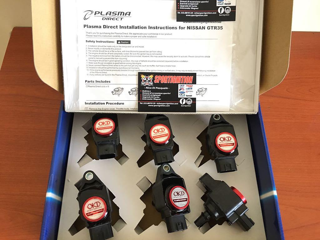 Okada Projects Race ignition coils Nissan Skyline Gtr R35 gtr35