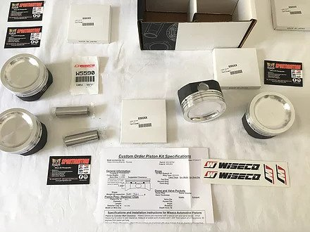 Wiseco Pistons Wke154m848 Duratec 20 Rs Focus Rs mk1 2.0 16v HMDA
