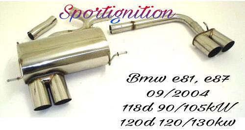 Duplex sport exhaust Bmw e81 e87 1st series 118d 120d