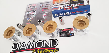 Diamond Pistons Audi vw 1 9tdi 2 0tdi 8v pde c r 18 1 Bore From 79 5mm