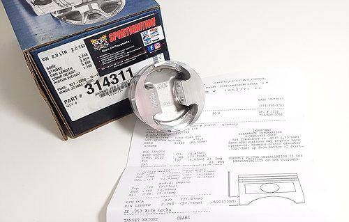 Je Pistons 314311 Vw Audi 2.0Tsi 1.8Tsi 82.50mm 9.1.1 Fsr Ea888 21mm pin