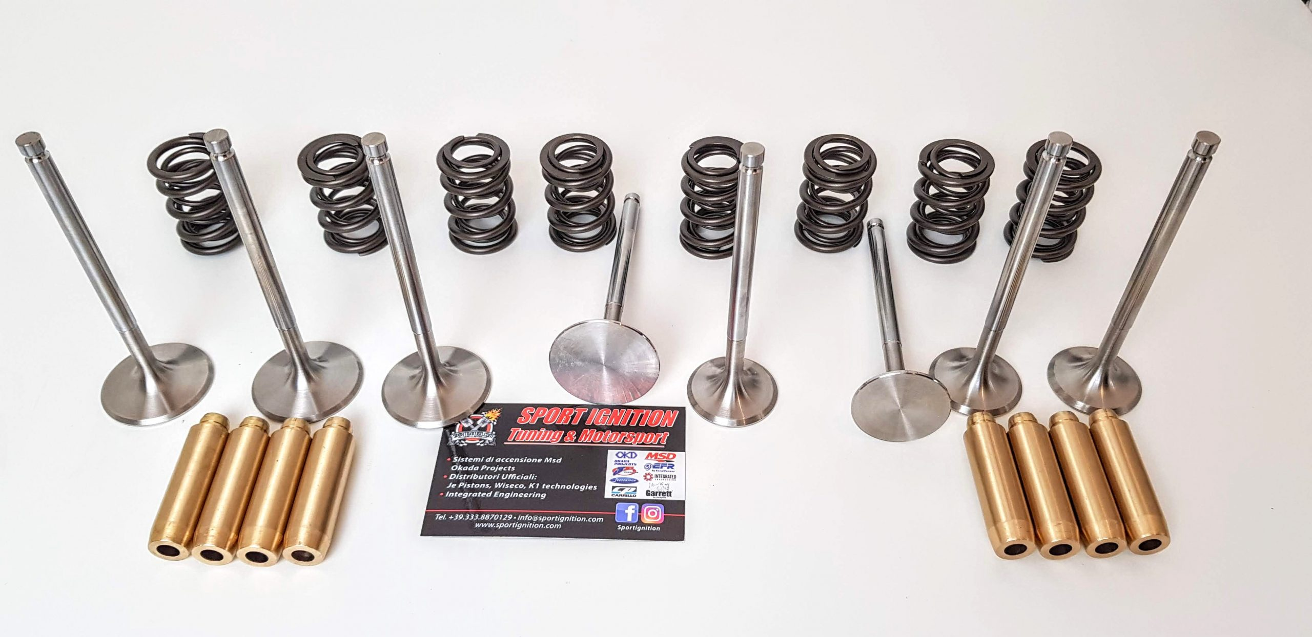 Kit Guides titanium double springs and Nimonic valves Fiat Uno Turbo Punto Gt