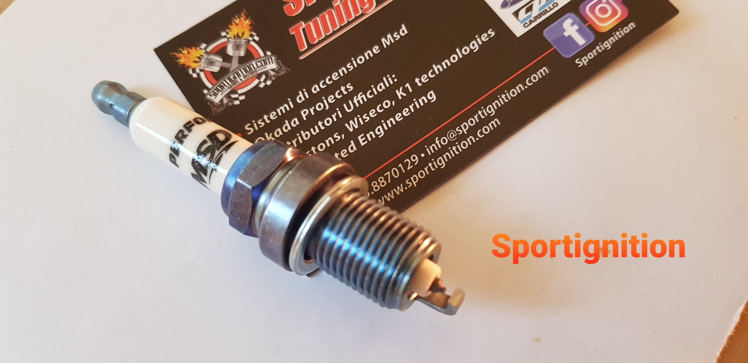 Msd Iridium Spark plug thermal grade 6 Fiat Uno Punto Gt Turbo